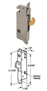 Patio Door Mortise Lock by Wgsonline Sliding Patio Door Mortise Lock Vertical Keyway For W U0026f