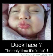 Funny Duck Face Meme - baby duck face
