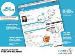 interactive resume firstdialog personal branding and social recruitment