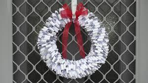 paper xmas wreath