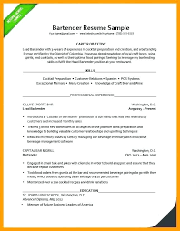 bartender resume exles bartender resume objective skywaitress co