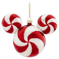 ornament mickey mouse ears peppermint twist