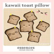 kawaii toast pillow gimme gacha group gift by essences home decor