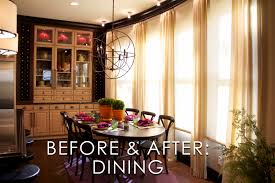 vibrant transitional kitchen dining room before and after san