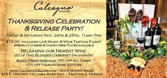 calcagno cellars cellar events thanksgiving weekend