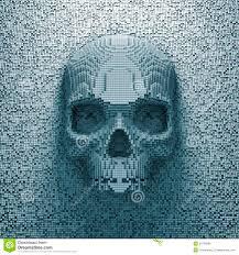 pixel halloween skeleton background pixel skull royalty free stock image image 29756926