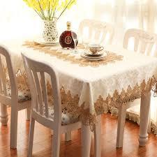 bureau carré nouvelle broderie or dentelle nappe table tissu dîner bureau tapis