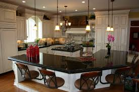 granite countertop kitchen backsplash pictures with oak cabinets