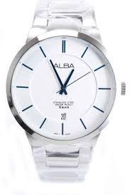 Jam Tangan Alba Putih harga alba atcb69 jam tangan wanita hitam perak putih pricenia