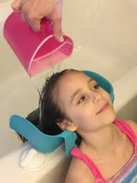 how to wash your hair in the sink parenting hack cool new product for rinsing shoo just like