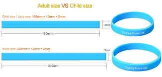 silicone bracelet size images Custom silicone wristbands dashing promo ltd jpg