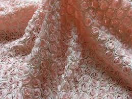tissus robe de mari e 3d mousseline de soie fleur rosette tissu en mousseline de