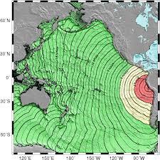 Travel Time Map U S Tsunami Warning Centers
