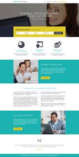 download modern and effective software landing page designs