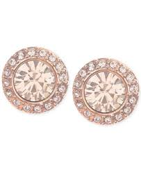 gold studs earrings givenchy gold tone pavé button stud earrings jewelry