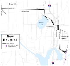 Seattle Bus Route Map by Route Revisions Service Change King County Metro Transit