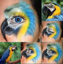 Halloween Costumes Parrots Parrot Halloween Eye Makeup Allthehalloween
