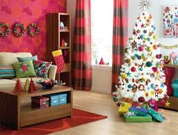 modern christmas decorations living room eclectic with beige rug