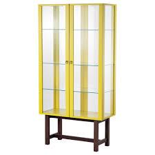 Detolf Ikea by Detolf Glass Door Cabinet Black Brown