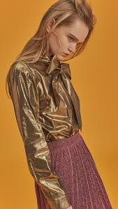 metallic blouse blaine metallic blouse loéil