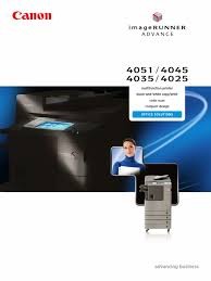 canon imagerunner advance 4000 series brochure image scanner fax