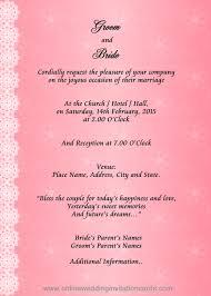 format of marriage invitation card festival tech com