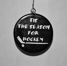hockey puck ornament tis the season for hockey by jracres on
