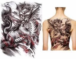 tattoo dragon full back big large full back chest japanese dragon tattoo temporary sticker