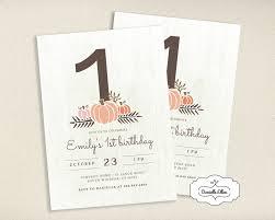 What U0027s New by Pumpkin First Birthday Invitations Free Printable Invitation Design