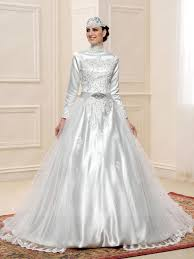 wedding dress muslim gorgeous high neck beading applique sleeves zipper up muslim