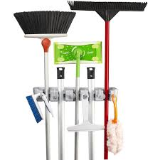 Garage Sale Organizers - amazon com spoga wall mounted mop broom and sports equipment