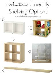 Montessori Bookshelves by Montessori Friendly Shelving Some Options
