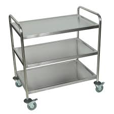 luxor silver three shelf rolling stainless steel kitchen cart by luxor silver three shelf rolling stainless steel kitchen cart by luxor