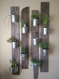 creative indoor vertical wall gardens small tins tin buckets