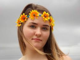 hippie flower headbands flower headband hippie flower crown festival