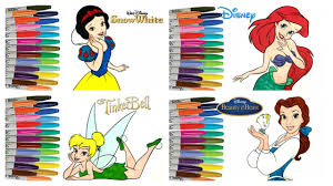 snow white coloring book disney coloring book compilation snow white ariel tinkerbell and