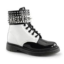 womens black combat boots size 11 womens black and white spiked boots with 1 25 heels and