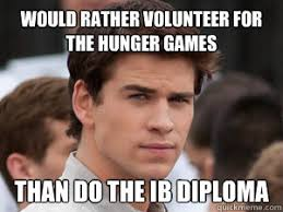 Volunteer Meme - would rather volunteer for the hunger games than do the ib diploma