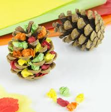 Simple Fall Crafts For Kids - autumn tree pine cone craft pine cone crafts autumn trees and
