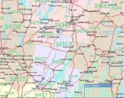 map of maine cities maine zip code map