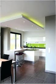 faux plafond cuisine ouverte eclairage faux plafond cuisine idées décoration intérieure