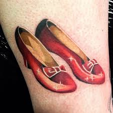8 sparkly u0026 magical ruby red slippers tattoos tattoodo