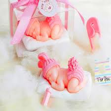 10pcs creative baby showers wool baby shaped candle baby s day out