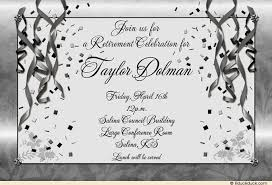 Retirement Invitation Wording Festive Retirement Party Invitation Gold Streamers Glitter