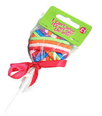elastic hairband lollipop design 16 elastic hair band gift set rainbow