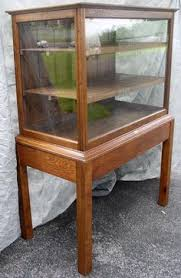 Glass Display Cabinet For Cafe Late19th Century Antique Oak Curved Glass Mercantile Countertop