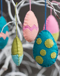 egg ornaments felt easter egg ornaments lia griffith