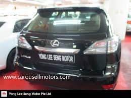 lexus used buy buy used toyota lexus rx270 auto panoramic roof car in singapore