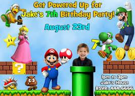 super mario birthday invitations alesi info