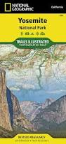 Map Of Yosemite Yosemite National Park National Geographic Trails Illustrated Map